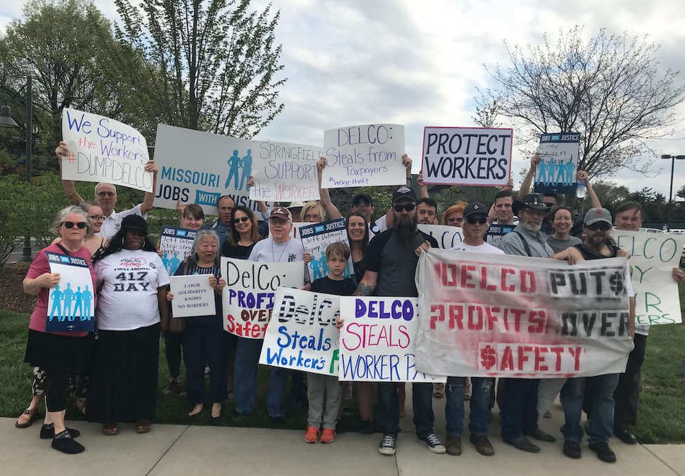 Delco Rally: Put Profits Over People