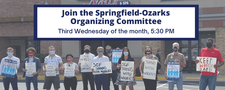 Springfield Ozarks Organizing Committee meetings are the 3rd Wednesday